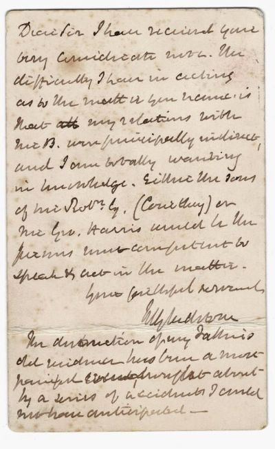 William Ewart Gladstone Autograph Letter Signed For Sale